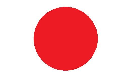 白地に赤丸