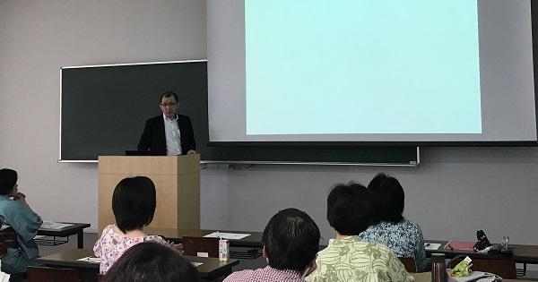 ファイナンシャル・プランナーの志村直隆先生 講座風景