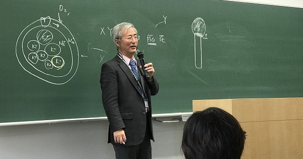 東京農業大学・田中越郎教授 講座風景