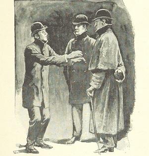 パジェットが描いた、インバネスコートを着たホームズ