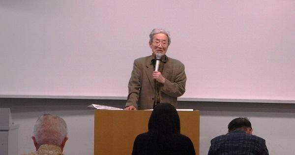 明治大学名誉教授・越智道雄先生 講座風景