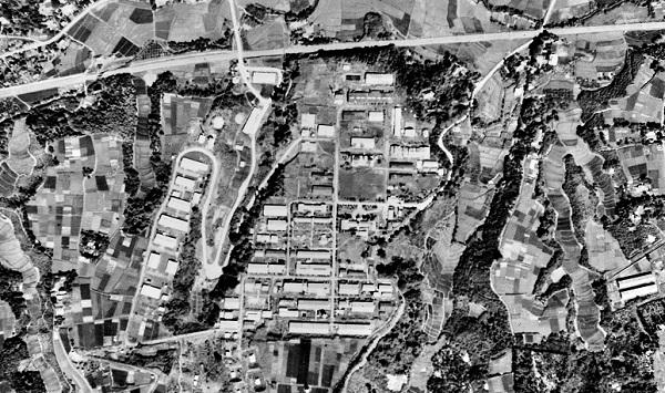 登戸研究所航空写真 1947(昭和22)年米軍撮影(国土地理院所蔵)